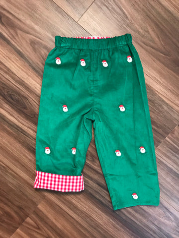 Santa Embroidered Rev. Pants Zuccini