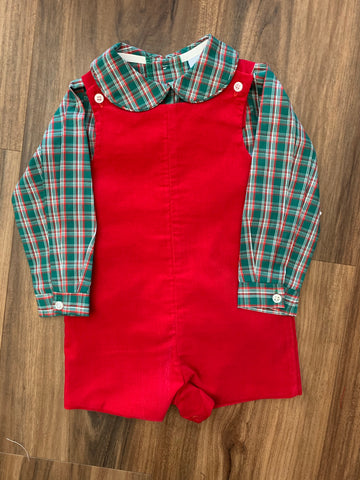 Holly Plaid Red Shortall Set by Bailey Boys