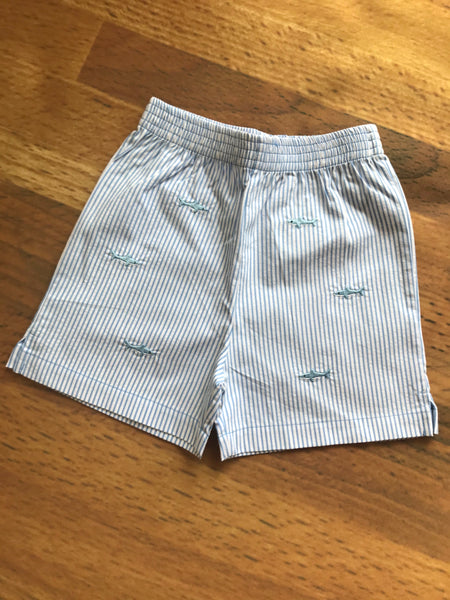 Sharks Emb. Toddler Shorts Luigi Kids