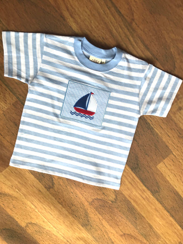 Sailboat Patch S/S Tee Luigi Kids