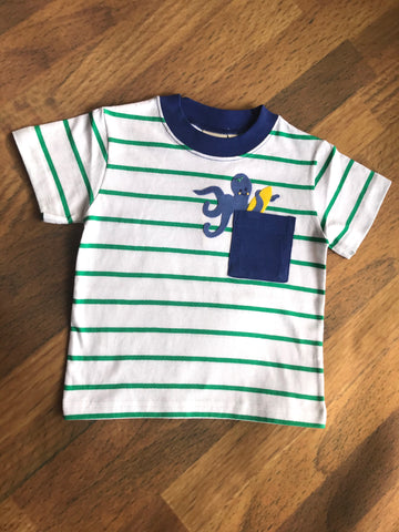 Surf Octopus Stripe Tee Luigi Kids Clothing