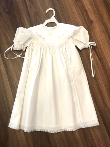 Scallop Collar Dress w/Tiny Bow Auraluz