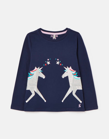 Bessie Unicorn L/S Tee by Joules