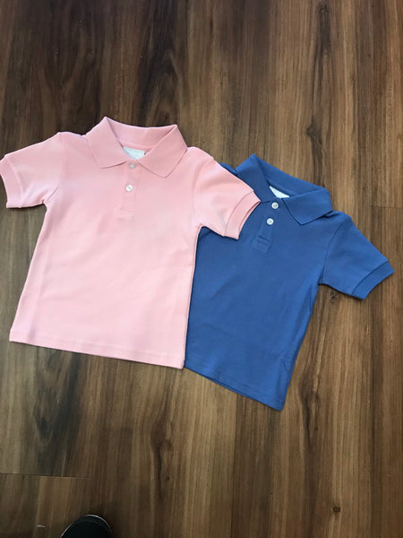 S/S Solid Polo Shirt Little English