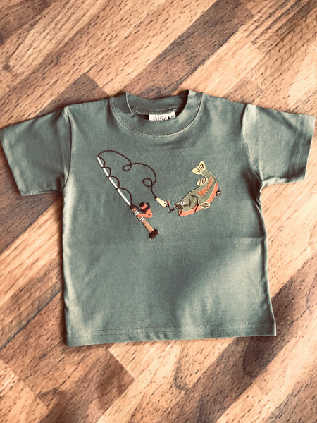 Fishing Rod & Trout S/S Tee Luigi Kids