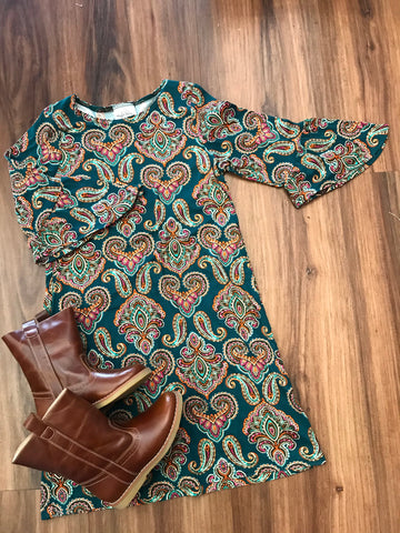 Paisley Knit Dress Maggie Breen Too