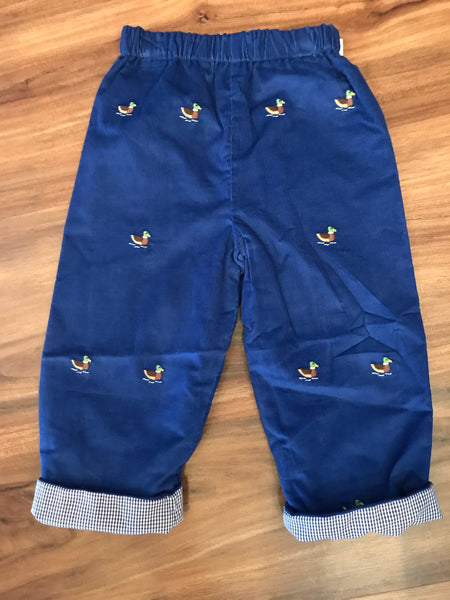Duck Embroidered Rev. Pants Zuccini