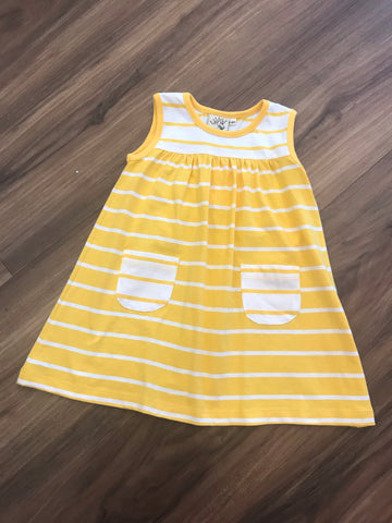 Stripe Sleeveless Dress w/Pockets Luigi Kids