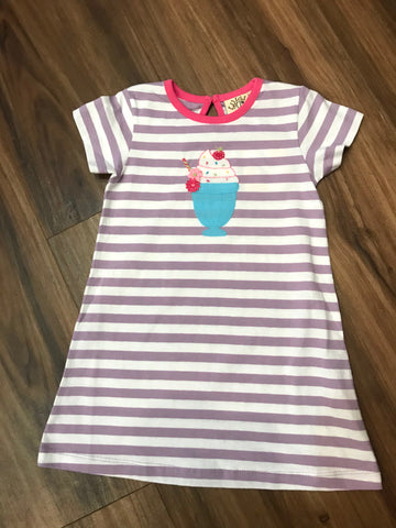 Ice Cream Cup A-Line Knit Dress Luigi Kids