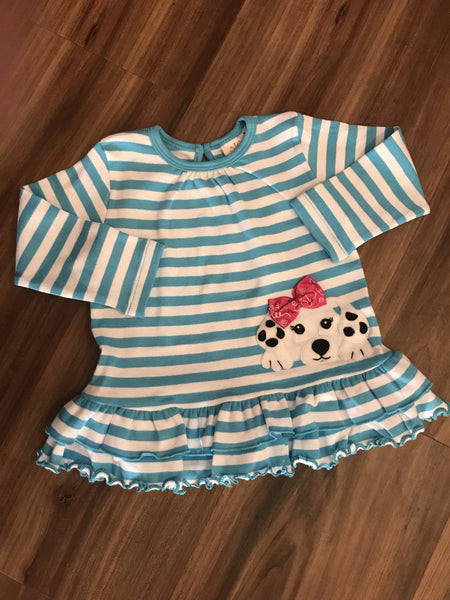 Puppy L/S Ruffle Bottom Top Luigi Kids