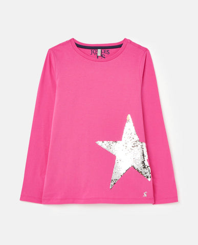 Ava Pink Star L/S Tee by Joules