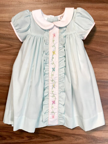 Butterfly Embroidered Ruffle Dress Toddler Lulu Bebe