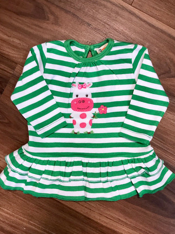Cow Toddler Ruffle Swing Top Luigi Kids