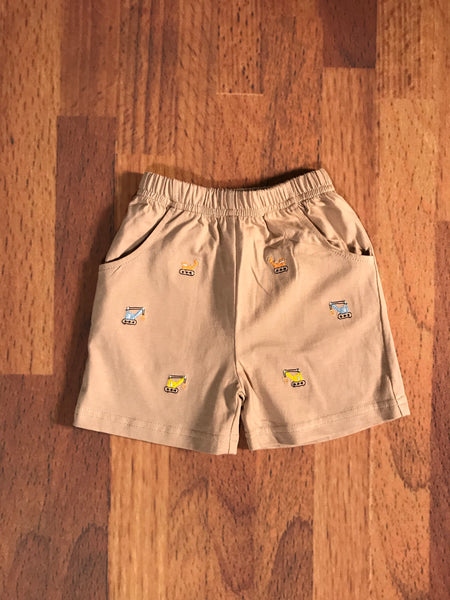 Construction Emb. Toddler Shorts