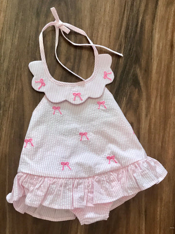 Bow Scallop Swimsuit Little English