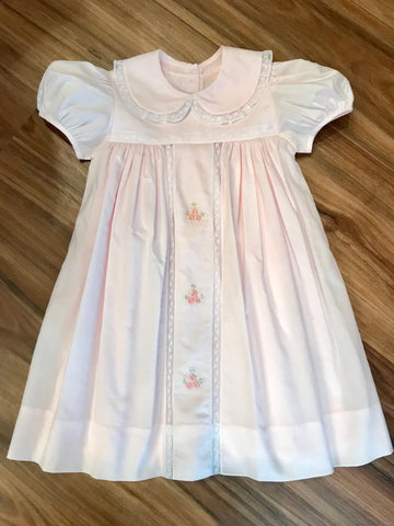 Pastel Dress w/Lace Insert & Flower 2T