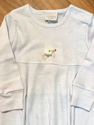 Tiny Lamb Romper Squiggles
