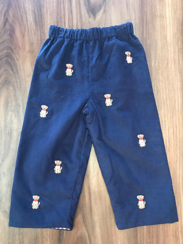 Labrador Embroidered Cord Pants Zuccini