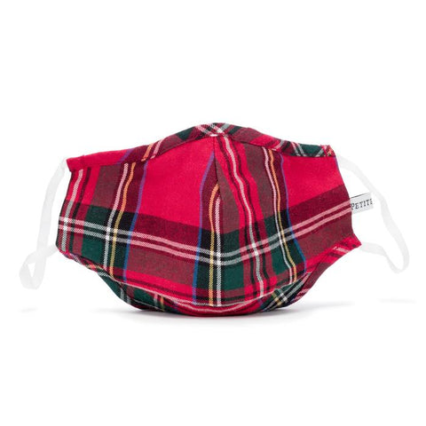 Imperial Tartan Child Face Mask Petite Plume