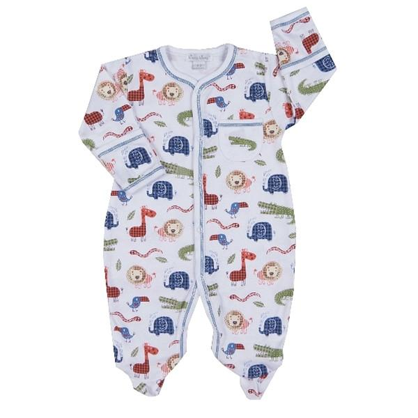 Jungle Rumble Print Footie Kissy Kissy