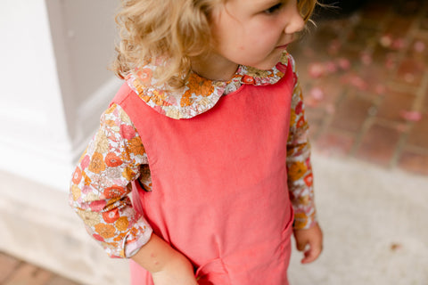 Keenan Floral Sophie Top w/Ruffle Peggy Green