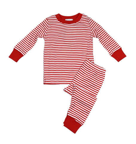 Tis the Season Stripe 2pc Pj Months Kissy Kissy