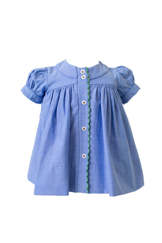 Stella Chambray Dress The Proper Peony