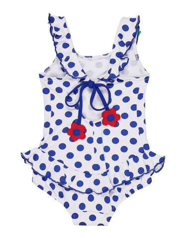 Polka Dot Flower Swimsuit Florence Eiseman