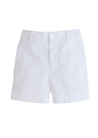 White Twill Boat Shorts Little English