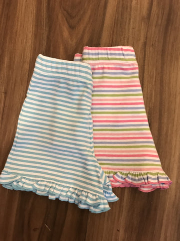 Narrow Stripe Knit Ruffle Shorts Luigi Kids