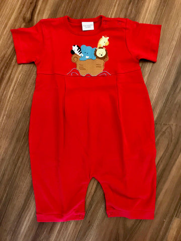 Noah's Ark Short Romper Squiggles
