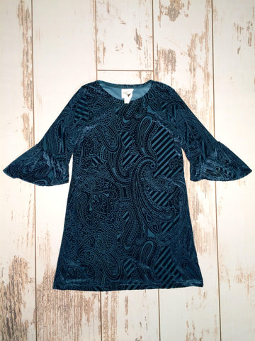 Paisley Ruffle Sleeve Dress Maggie Breen Too