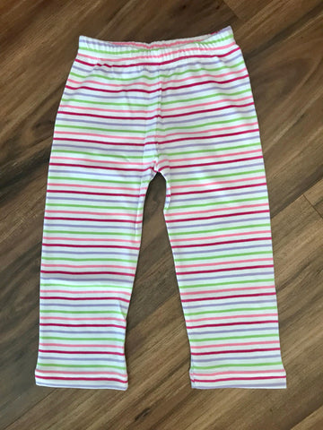 Lavender Multi Stripe Child Legging Squiggles