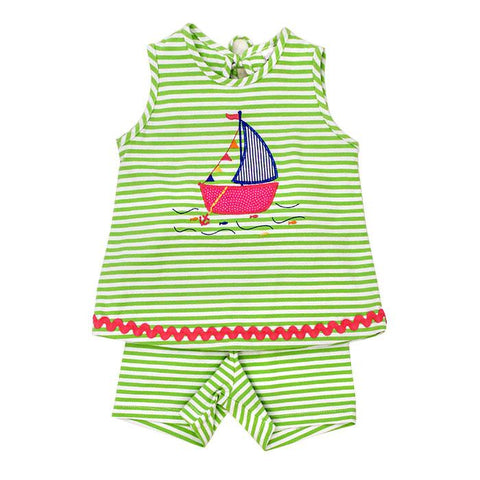 Party Boat Knit Shorts Set Bailey Boys