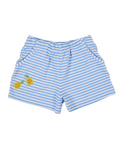 Pineapple Embroidered Shorts Florence Eiseman