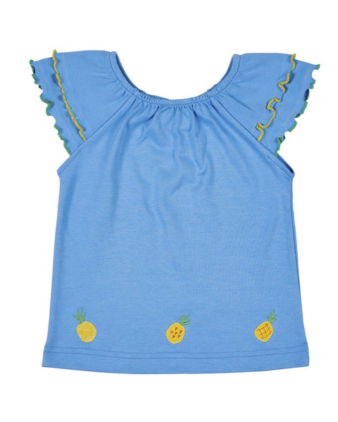 Pineapple Embroidered Tee Florence Eiseman