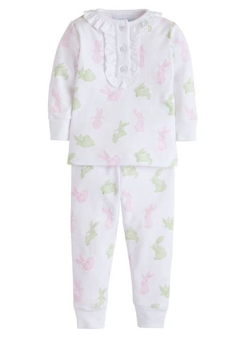 Pink Bunny Print Jammies Little English