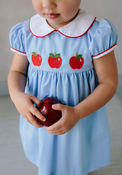 Poppy Peter Pan Dress w/Apples Little English