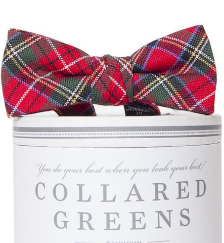 Prince of Whales Plaid Bow Tie Collared Greens