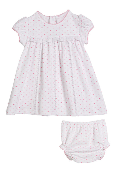 Princess Castle Heart Print Dress w/Bloomers Kissy Kissy
