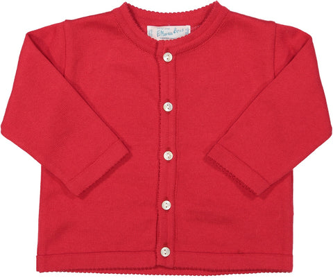 Cardigan Sweater in Navy-White-Or-Red Feltman Brothers