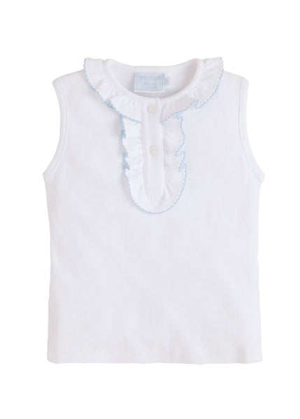 Ruffle Henley Tee Little English