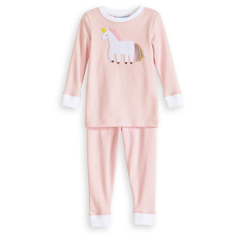 Unicorn Applique Pima Jammies Bella Bliss