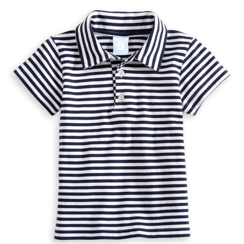 Pima Stripe S/S Polo Bella Bliss