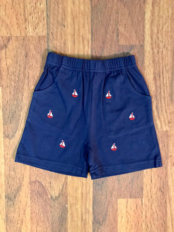 Sailboat Emb. Child Shorts Luigi Kids