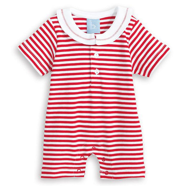 Sailboat Emb Stripe Romper Bella Bliss