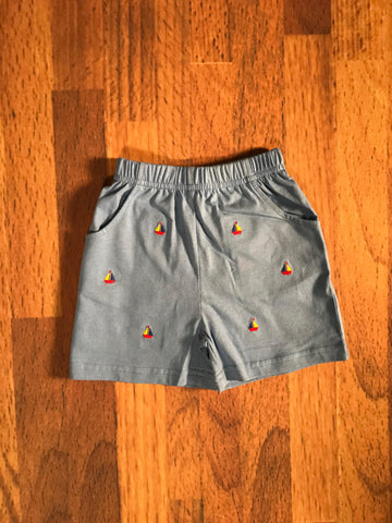 Sailboat Emb. Months Shorts Luigi Kids