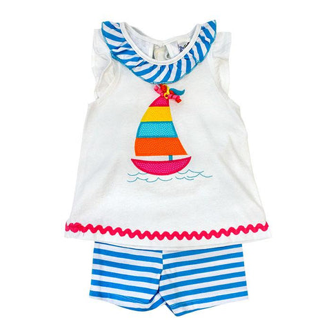 Sailboat Girls Shorts Set Bailey Boys