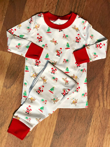 Santa's Helpers 2 Pc Pjs Kissy Kissy