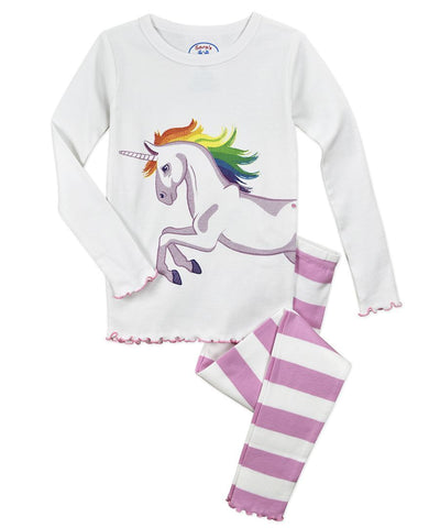 Unicorn 2pc Long Pjs Sara's Prints